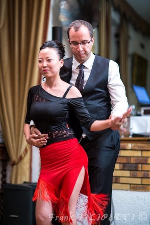 Bijie et Bertrand danse